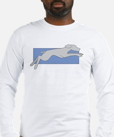 Leaping Weim Long Sleeve 2 Sided T-Shirt