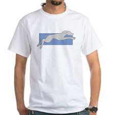Leaping Weim 2 Sided White Tee