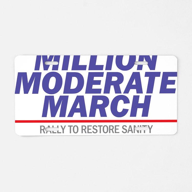 Million Moderate March Blue Aluminum License Plate