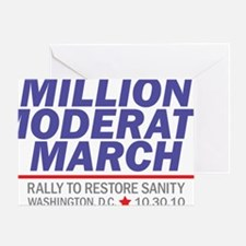 Million Moderate March Blue Stack Greeting Card