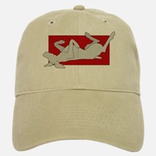 Weim on Back Baseball Baseball Cap