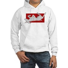 Weim on Back 2 Sided Hoodie