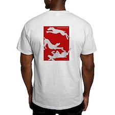 Weim on Back Light 2 Sided T-Shirt