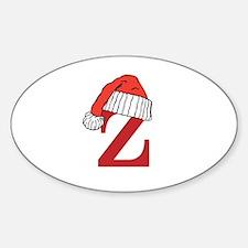 Letter Z Christmas Monogram Decal