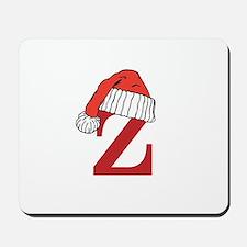 Letter Z Christmas Monogram Mousepad