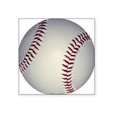 "baseballminibutton Square Sticker 3"" x 3"""