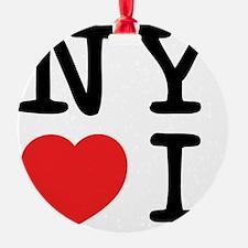 NY loves I Ornament