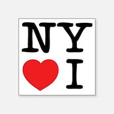 """NY loves I Square Sticker 3"""" x 3"""""""