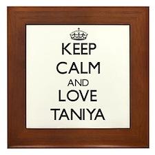 Keep Calm and Love Taniya Framed Tile