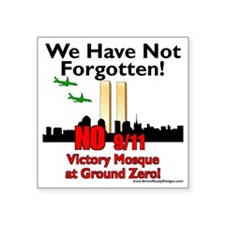 """victory mosque we have not  Square Sticker 3"""" x 3"""""""