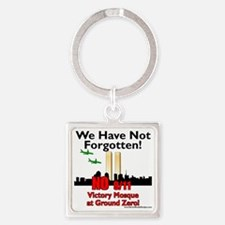 victory mosque we have not forgott Square Keychain