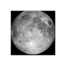 "Full Moon Square Sticker 3"" x 3"""