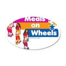 Meals on Wheels Oval Car Magnet