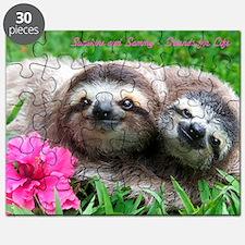 Sunshine And Sammy Baby Sloths On Puzzle