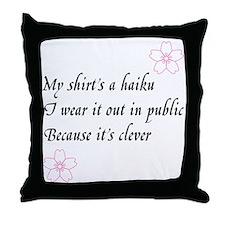 Haiku Shirt Throw Pillow