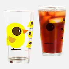 2 bird family -shape Drinking Glass