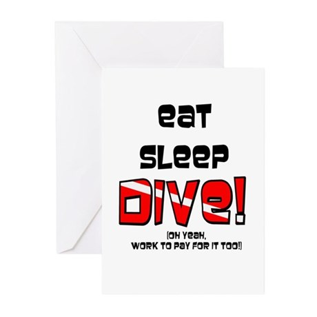 Eat Sleep Dive Greeting Cards (Pk of 10)