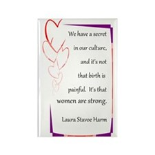 BirthStrongHeart Rectangle Magnet