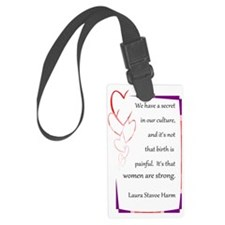 BirthStrongHeart Luggage Tag