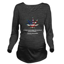Pot Flag Long Sleeve Maternity T-Shirt