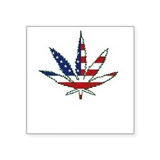 "Pot Flag Square Sticker 3"" x 3"""