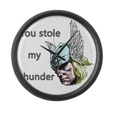 Stole my thunder Large Wall Clock