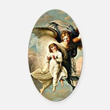 Angel and Child Oval Car Magnet