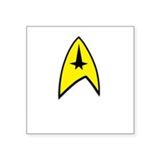 "Star Trek Insignia- Black A Square Sticker 3"" x 3"""