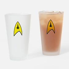 Star Trek Insignia- Black A Drinking Glass