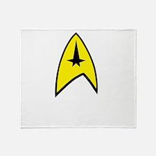 Star Trek Insignia- Black A Throw Blanket