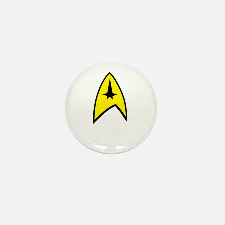 Star Trek Insignia- Black A Mini Button
