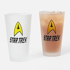Star Trek Insignia- Black Drinking Glass