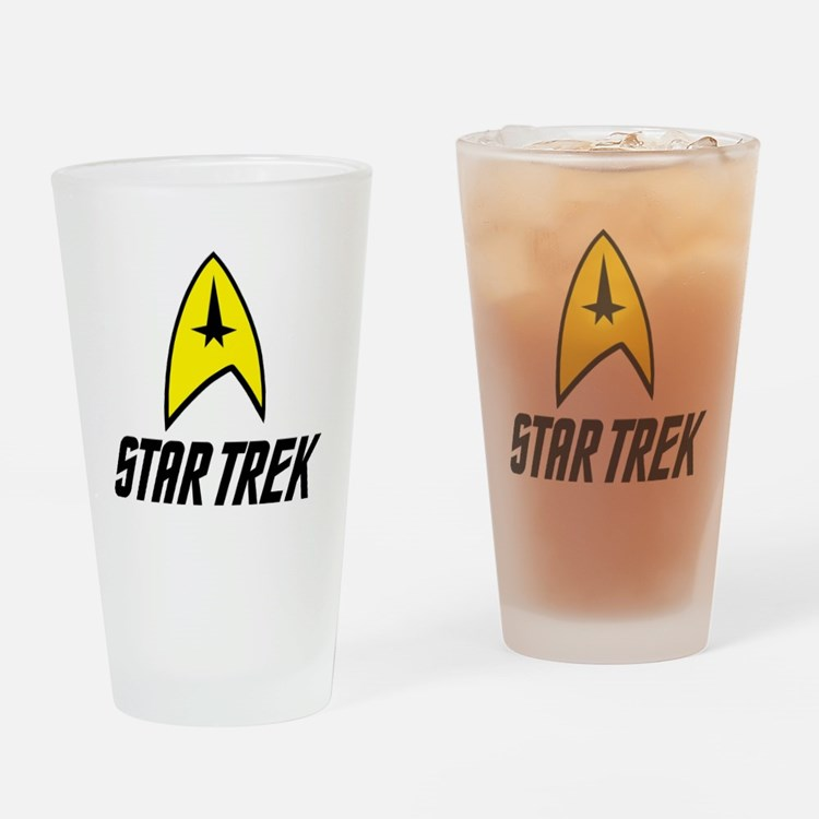 Star Trek Insignia- Black Drinking Glass