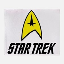 Star Trek Insignia- Black Throw Blanket