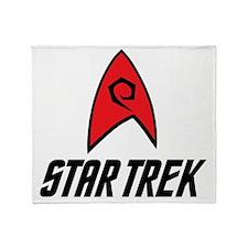Star Trek Insignia Red- Black Throw Blanket