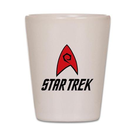 Star Trek Insignia Red- Black Shot Glass