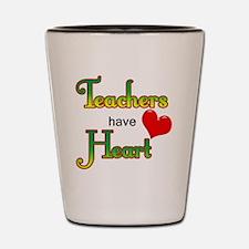 Teachers Have Heart green Shot Glass