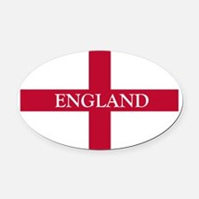 NC English Flag- England Goudy old Oval Car Magnet