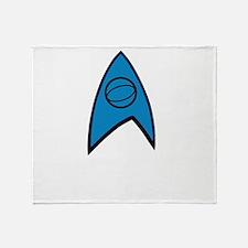 Star Trek Insignia Blue- Black A Throw Blanket