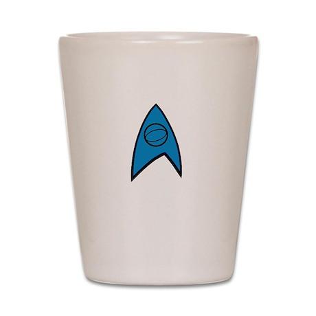Star Trek Insignia Blue- Black A Shot Glass
