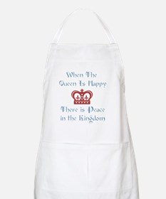Queen is happy Apron