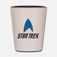 Star Trek Insignia Blue- Black Shot Glass