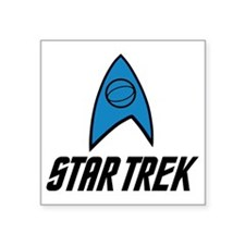 "Star Trek Insignia Blue- Bl Square Sticker 3"" x 3"""