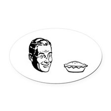 chickenpotpiewithwords Oval Car Magnet