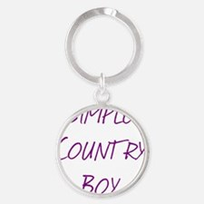 Simple Country Boy Round Keychain