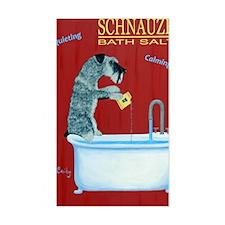 Schnauzer Bath Salts Decal