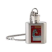 Schnauzer Bath Salts Flask Necklace