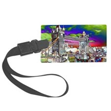 Retro London Luggage Tag