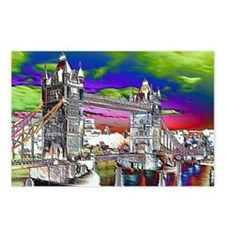 Retro London Postcards (Package of 8)