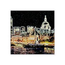 "London Night Square Sticker 3"" x 3"""